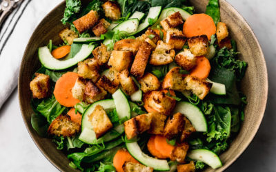 St. Mark's Salad with Croutons & Light Vinaigrette